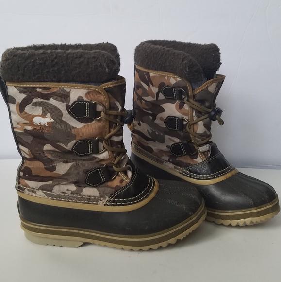 98ca4d23633f9 Sorel Kids Camo Yoot Pac Nylon Winter Snow Boots. M_5b3e51f0fe5151f4fdcce80d